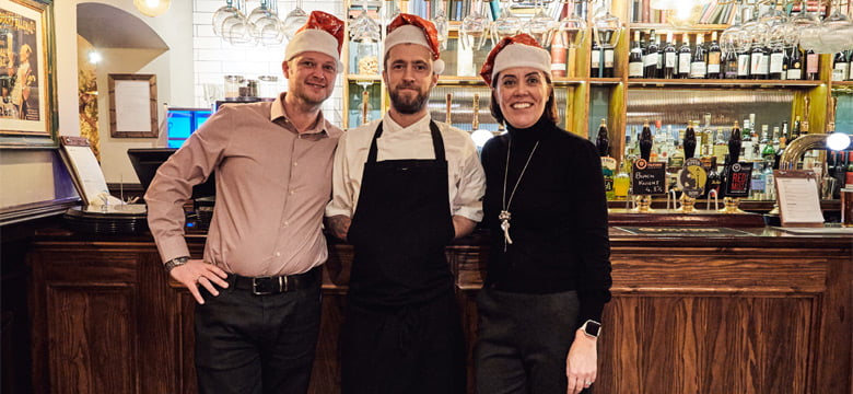 General Manager Joe, Head Chef Jay and Events Manager, Lindsay