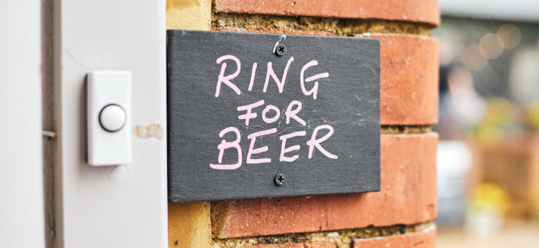 Ring for beer sign